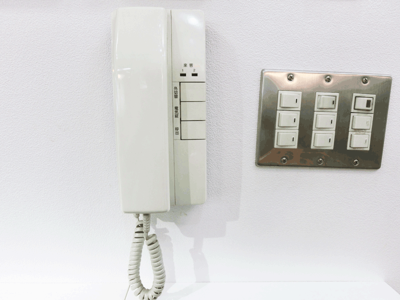 インターホン受話器